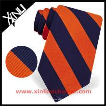Laço de seda tecido colorido listrado do pescoço