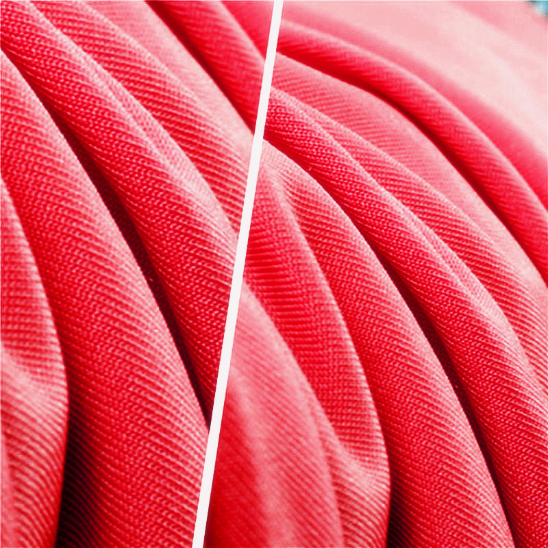 Rose Red Polyester Stretch Smooth Milk Silk Fabric