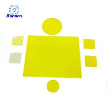 Filtre en verre jaune optique GG400 GG420 GG450 GG475 GG495 GG515