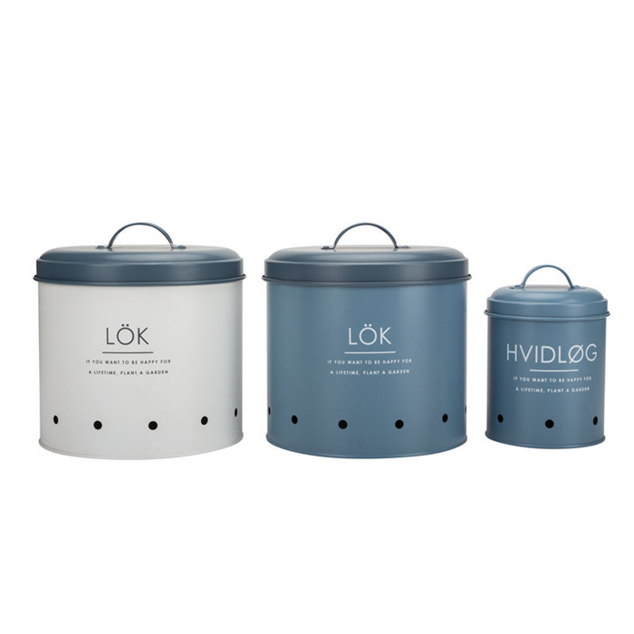 Set of 3 Kitchen Round Food Storage Bin