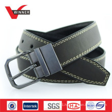 Reversible Buckle Black Mens PU Belts