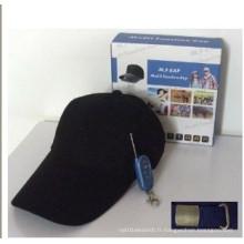 Cap Cam DVR Hat Camera avec l'intérieur de la carte mémoire