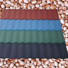 Colorful Stone Chips  Coated Metal Roofing Tiles Steel Sheet Building Material