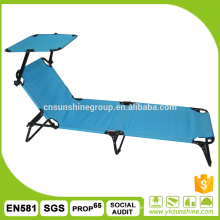Outdoor foldable bed with shade