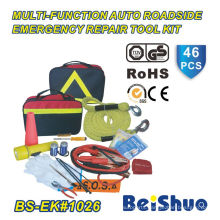 46PCS Roadside Car Emergency Tool Kit