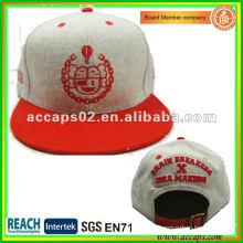 100% Acrylique Snapback Hat Gris SN-1159