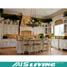 China Casas prefabricadas de lujo en línea Compras Unidad de cocina Gabinete de cocina de PVC (AIS-K716)