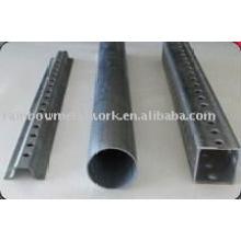 Puesto de señales de acero disponible en canal en U, tubo cuadrado y tubo redondo