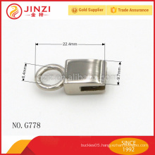 nickel plating hang lock style bag parts accessories