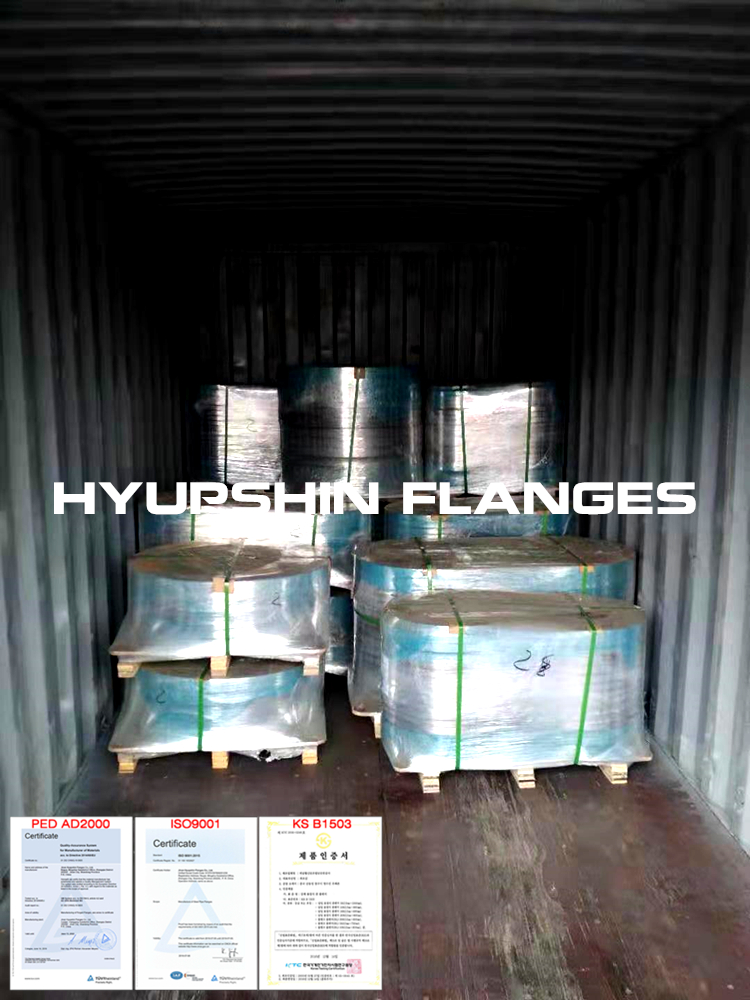 Hyupshin Flanges Shipping Shipment Sea