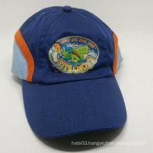 three color printed curved brim baseball cap
