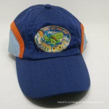Трехцветная печатная изогнутая бейсбольная кепка