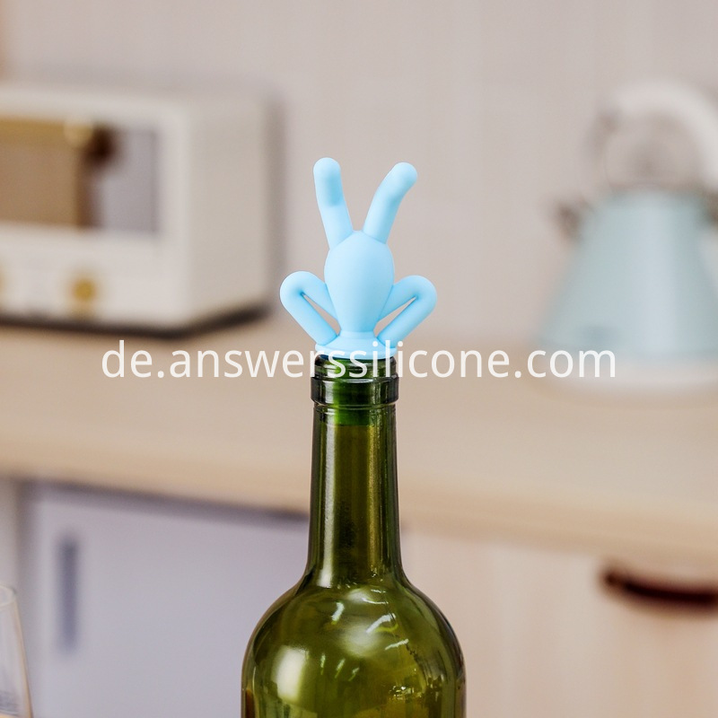 bottle stopper blue