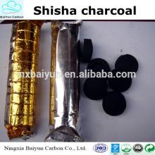 Narguilé de coco sem costura Shisha Carvão