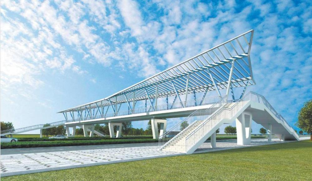 Prefab Steel Pedestrian Bridge