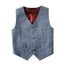 Boys' Solid Grey Basic Vests