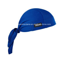 Custom Made Logo Printed Cotton Dew Rag Adjustable Skull Bandana Head Wrap Headscarf