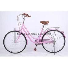 Princess Pink 26 pulgadas baratos mujeres City Bike / bicicleta holandesa
