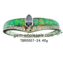 Bijoux-925 Sterling Silver créé bracelet opale (YB00001)