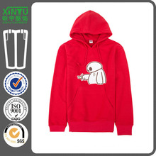 2016 Red Fleece Cheap Pullover Plain 100% Polyester Hoodies