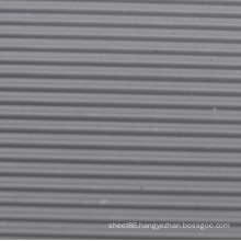Industrial Grooved Non-Slip Rubber Sheet Roll in Grey Color