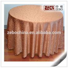 Customized Polyester Jacquard Wedding and Banquet used 90 Round Tablecloth