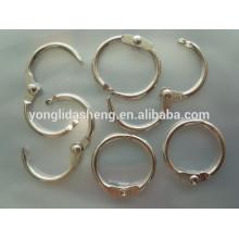 Vários zinco liga metal ring design para saco acessório