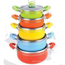10PCS Alumínio Non-Stick Cookware Set (LF1826-10)
