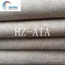 Tecido de linho de 100% poliéster tecido de cortina de olhar para cortina, tecido de cortina / tela de cortina