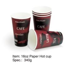 Single Wall Paper Hot Coffee Cup 8oz / 12oz / 16oz