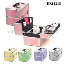 venda quente caso cosmético de alumínio com multi cores de alta qualidade