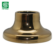 Golden E27 Ceramic Wall Socket with Screw Invisible