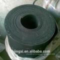 Rolo de borracha preto da folha da Desgaste-Resistência de alta qualidade com inserção de pano
