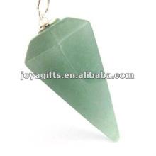 Verde aventurina Pêndulo de Pedra