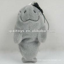 100%cotton stuffed and mini cute soft plush fish