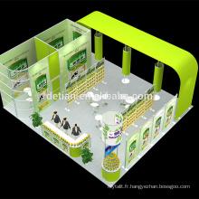 Detian personnaliser stand d'exposition de matériel de stand de salon pas cher portable