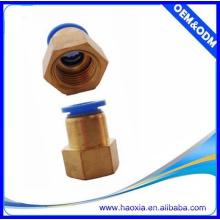 Conexiones neumáticas del aire caliente de la pipa de la venta PCF conectador femenino conexión del tubo del cobre