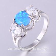 Großhandel Silberschmuck 925 Silber Ring mit Opal und CZ