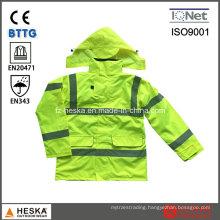 Safety Hi Vis 3 in I High Visibility Parka Jacket