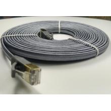 Nylon plat Cat7 tressé avec fil LAN RJ45