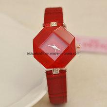 Quartz Watch Fashion Girls Relógios de pulso com pulseira de couro genuíno