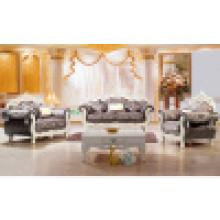 Sofá de casa com moldura de sofá de madeira e mesa lateral (929D)