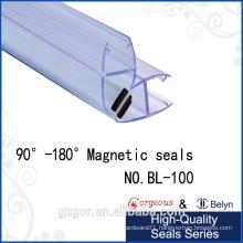 2016 seal magnetic rubber door seal strip for shower door