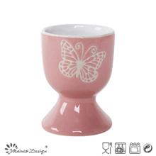 Silk Screen White Butterfly Small Egg Holder