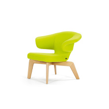 Leisure Munich Lounge Leather Upholstered Beech Armchair