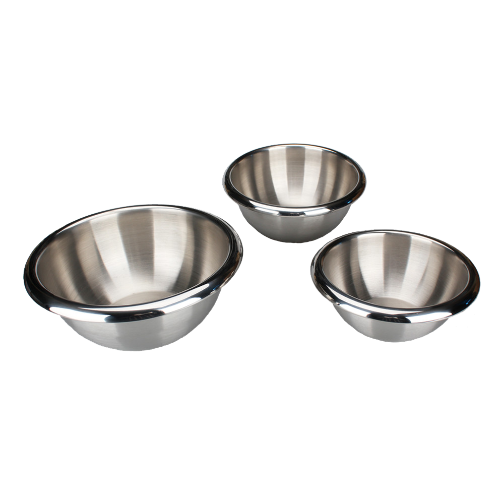 Double Wall Food Grade Stainless Steel Mixing Bowl Set