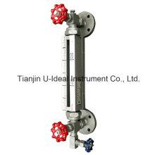 Indicador de nível de tubo de vidro bi-color de alta temperatura - Medidor de nível tubular