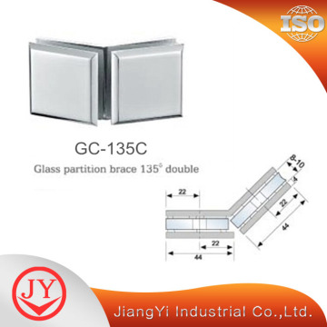135 Degree Glass Clamp For Shower Room