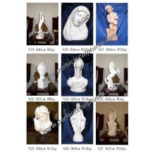 Escultura de pedra Figurine de estátua de mármore com Angel Animal Figurine
