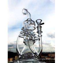 Novo Design de 12 polegadas de altura Mini Portable Reciclador de água de vidro da tubulação